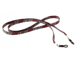 Brillenband mit Paisleymuster rot