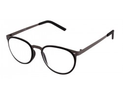 Metall Lesebrille in Retro Form silber