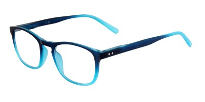 Lesebrille in blauer Two-Tone Optik