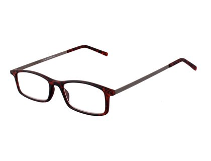 Flache Lesebrille JERRY in brauner Schildpatt Optik