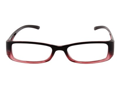 Lesebrille in Two-Tone Optik schwarz rot