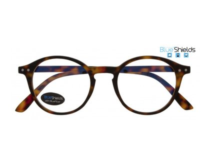 BLUESHIELDS Bildschirmbrille in Retro Form braune Schildpatt Optik