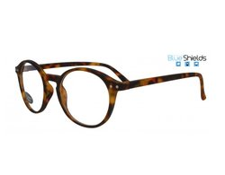 BLUESHIELDS Bildschirmbrille in Retro Form braune...