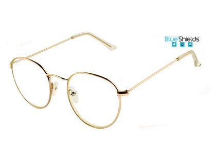 BLUESHIELDS Metall Bildschirmbrille gold
