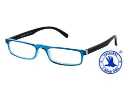 I NEED YOU Lesebrille HALFLINE blau
