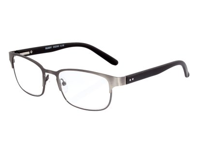 I NEED YOU Lesebrille BUDDY gun silber