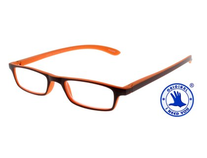 I NEED YOU  Lesebrille ZIPPER Selection braun orange