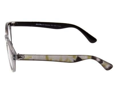 STRIKE EYEWEAR Lesebrille im Animal-Look grau