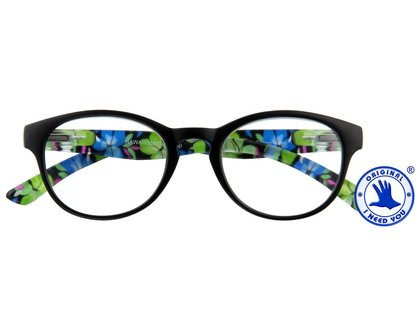I NEED YOU  Lesebrille HAWAII schwarz-blau